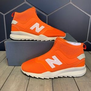 New Balance 247 Mid Zipper Orange Beige Shoe